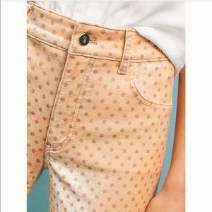 Anthropologie Velvet High-rise skinny pants